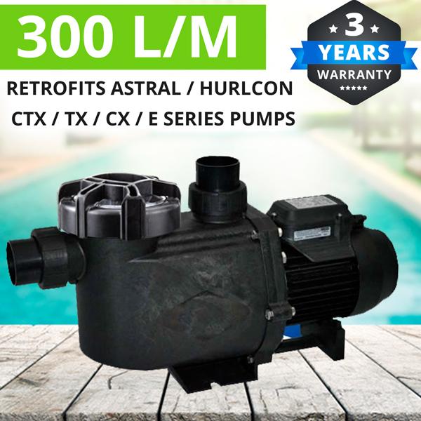 1 5 Hp Pool Pump Retro Fit Astral Hurlcon Ctx400 Tx360